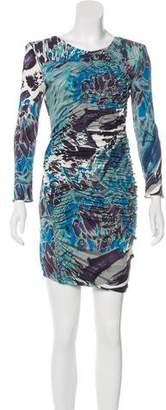 Emilio Pucci Printed Long Sleeve Dress