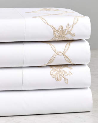 Dea Luxury Diamond With Flower Embroidered Sheet Set