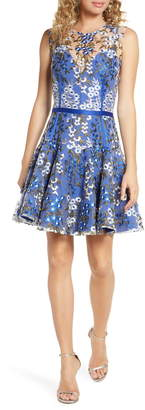 Bronx and Banco Poppy Cobalt Party Dress