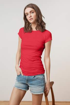 Velvet by Graham & Spencer JEMMA GAUZY WHISPER FITTED CREW NECK TEE