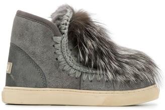Mou Eskimo furry detail boots