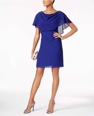 Jessica Howard Draped Capelet Dress $99 thestylecure.com
