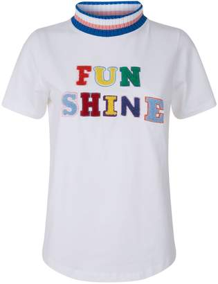 Mira Mikati Fun Shine Knit Collar T-Shirt