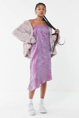 Urban Renewal Vintage Remnants Iridescent Asymmetrical Slip Dress