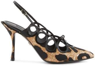 Dolce & Gabbana Jacquard sling backs