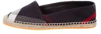 Burberry Woven Round-Toe Espadrilles