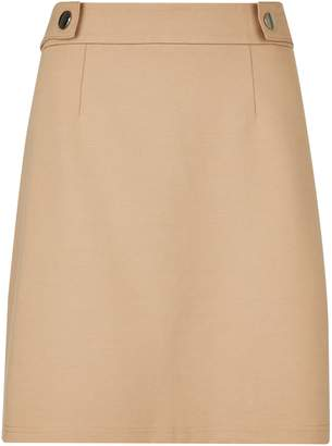 Dorothy Perkins Womens Stone Popper Mini Skirt