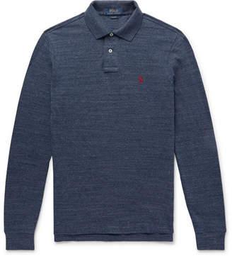 Polo Ralph Lauren Mélange Cotton-Piqué Polo Shirt