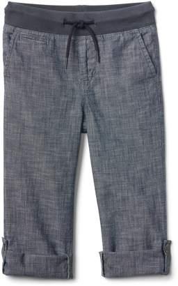 Gap Pull-On Chambray Pants