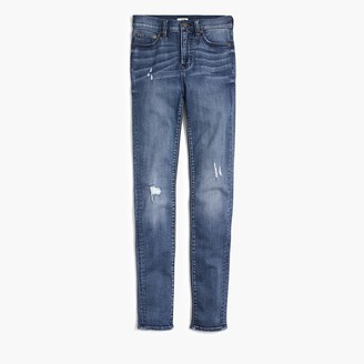 """J.Crew 9"""" high-rise skinny jean with distressed details"""