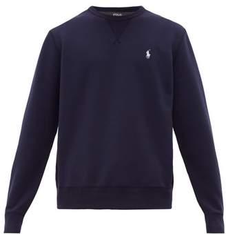 Polo Ralph Lauren Logo Embroidered Double Knit Cotton Sweatshirt - Mens - Navy