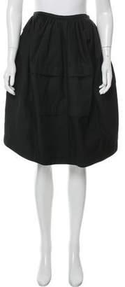 Alaia Tiered Knee-Length Skirt