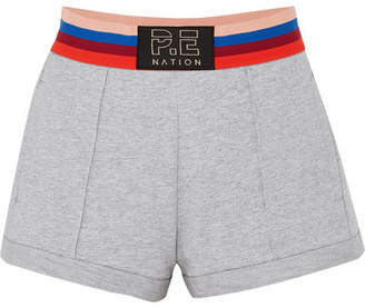 P.E Nation Starting Whistle Cotton-jersey Shorts