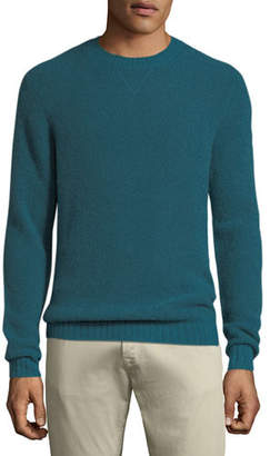 Neiman Marcus Men's Cashmere/Nylon Crewneck Sweater
