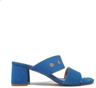 71e382cd49c Blue Suede Sandals Heels - ShopStyle