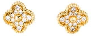 Van Cleef & Arpels Diamond Vintage Alhambra Earclips