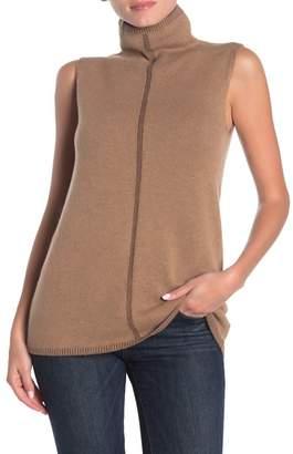 Lafayette 148 New York Vanise Cashmere Sleeveless Mock Neck Sweater
