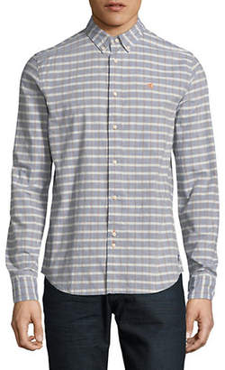 Scotch & Soda Plaid Cotton Sport Shirt