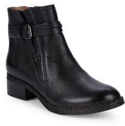 Best V-Gore Buckled Leather Booties