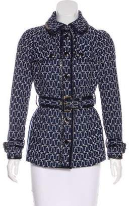 Tory Burch Belted Patterned Jacket