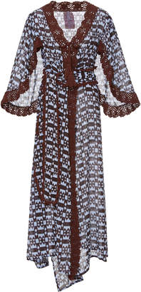 Yvonne S Linen Butterfly Wing Wrap Dress