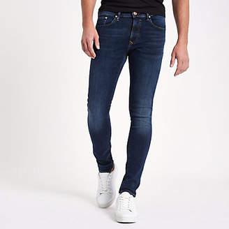 River Island Dark blue Danny super skinny stretch jeans