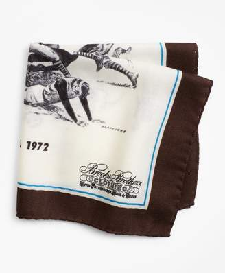 Brooks Brothers Limited Edition Archival Collection Fall 1972 Cashmere-Silk Pocket Square