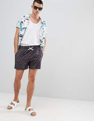 The Endless Summer Vintage Summer Vintage Swim Shorts with Anchor Print
