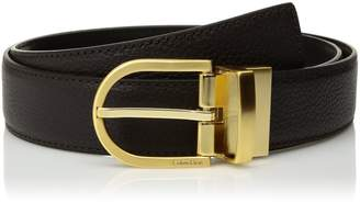 Calvin Klein Women's Reversible Core Basic Belt Pebble to Smooth Leather
