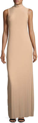 Neiman Marcus Lurelly Issy Sleeveless Side-Slit Column Evening Gown