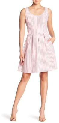 Nine West Inverted Box Pleated Dress