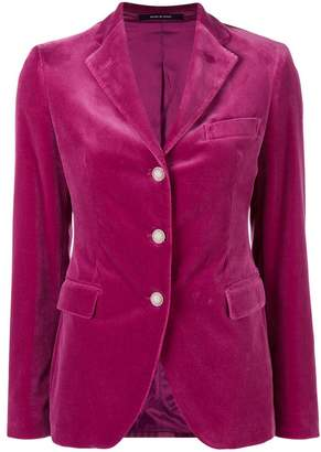 Tagliatore velvet fitted blazer