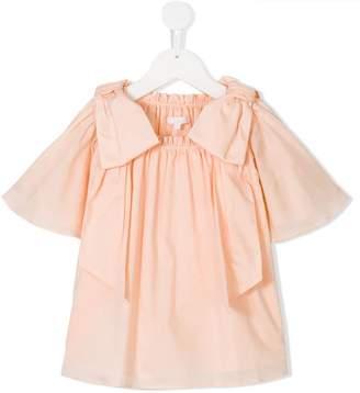 Chloé Kids ruffled smock blouse