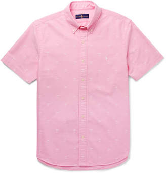 Polo Ralph Lauren Slim-Fit Button-Down Collar Embroidered Cotton Oxford Shirt