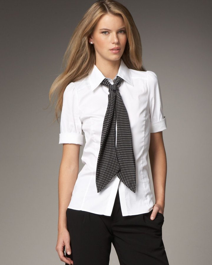 Alice + Olivia Riley Blouse with Tie
