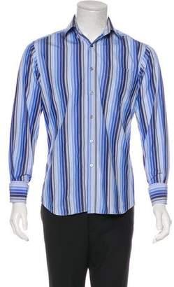 Paul Smith French Cuff Striped Dress Shirt