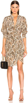 Nili Lotan Leora Dress in Black & Beige Paisley | FWRD