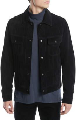 Vince Men's Suede Trucker Jacket