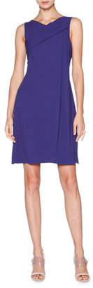 Giorgio Armani Sleeveless Grecian-Drape Dress, Indigo