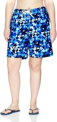 Kanu Surf Women's Plus Size Gillian UPF 50+ Active Geo Swim Boardshort