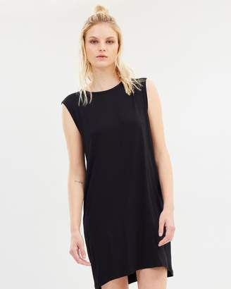 Petite Collapse Back Mini Jersey Dress