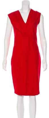 Fendi Virgin Wool Midi Dress Red Virgin Wool Midi Dress