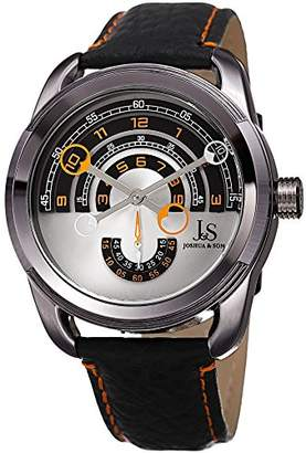 Joshua & Sons Men's Quartz Stainless Steel and Leather Casual Watch