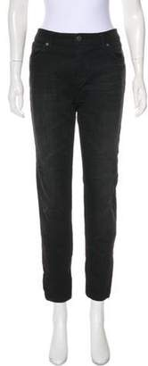 Burberry Mid-Rise Skinny Jeans Black Mid-Rise Skinny Jeans