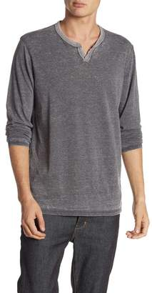 Lucky Brand Long Sleeve Burnout Tee