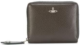 Vivienne Westwood logo zip around wallet