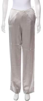 Donna Karan High-Rise Satin Pants