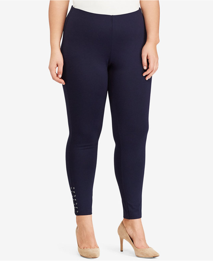 Lauren Ralph Lauren Lauren Ralph Lauren Plus Size Lace-Up Ponte Leggings