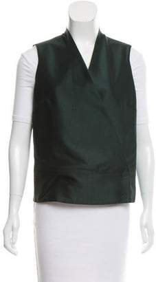 Pauw Surplice Neck Snap-Up Vest