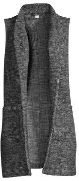 Eileen Fisher Melange Long Vest